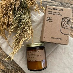 Brand new PF candle co candle with box campfire